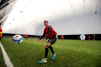 St Mirren training under the Dome